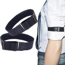 Hommes manches jarretières supports rayure/Plaid bras bandes manches chemise marié élastique jarretière Bracelet en métal pour dames sangle antidérapante