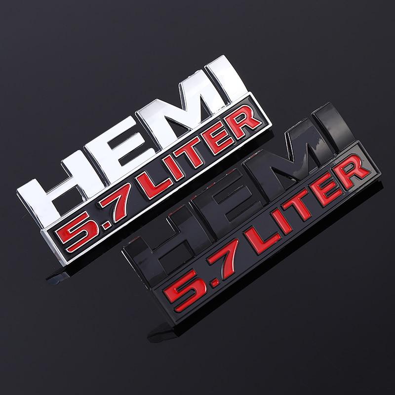 ABS 3D Car Sticker 5.7 LITER HEMI Emblem Nameplate Badge Decals for Jeep Dodge Challenger RAM 1500 2500 3500 Auto Accessories