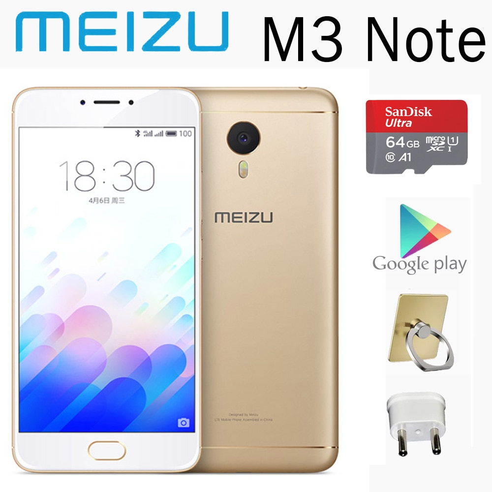 smartphone 98%new meizu M3 Note 2G 16G 5.5 inches 4100mAh battery global version smart phone mobile phones