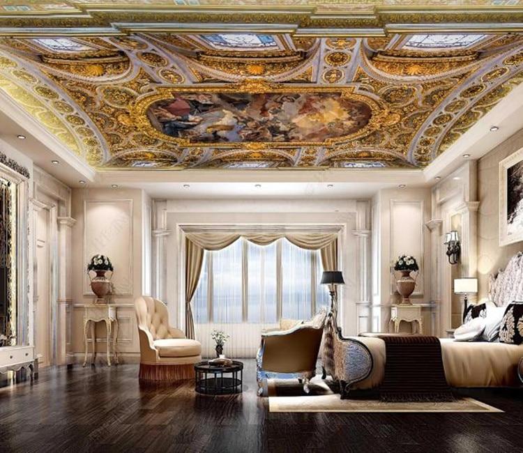 Papel tapiz 3D de fondo clásico renacentista de Mural personalizado papel pintado para sala de estar dormitorio techo papel pintado fotográfico 3D