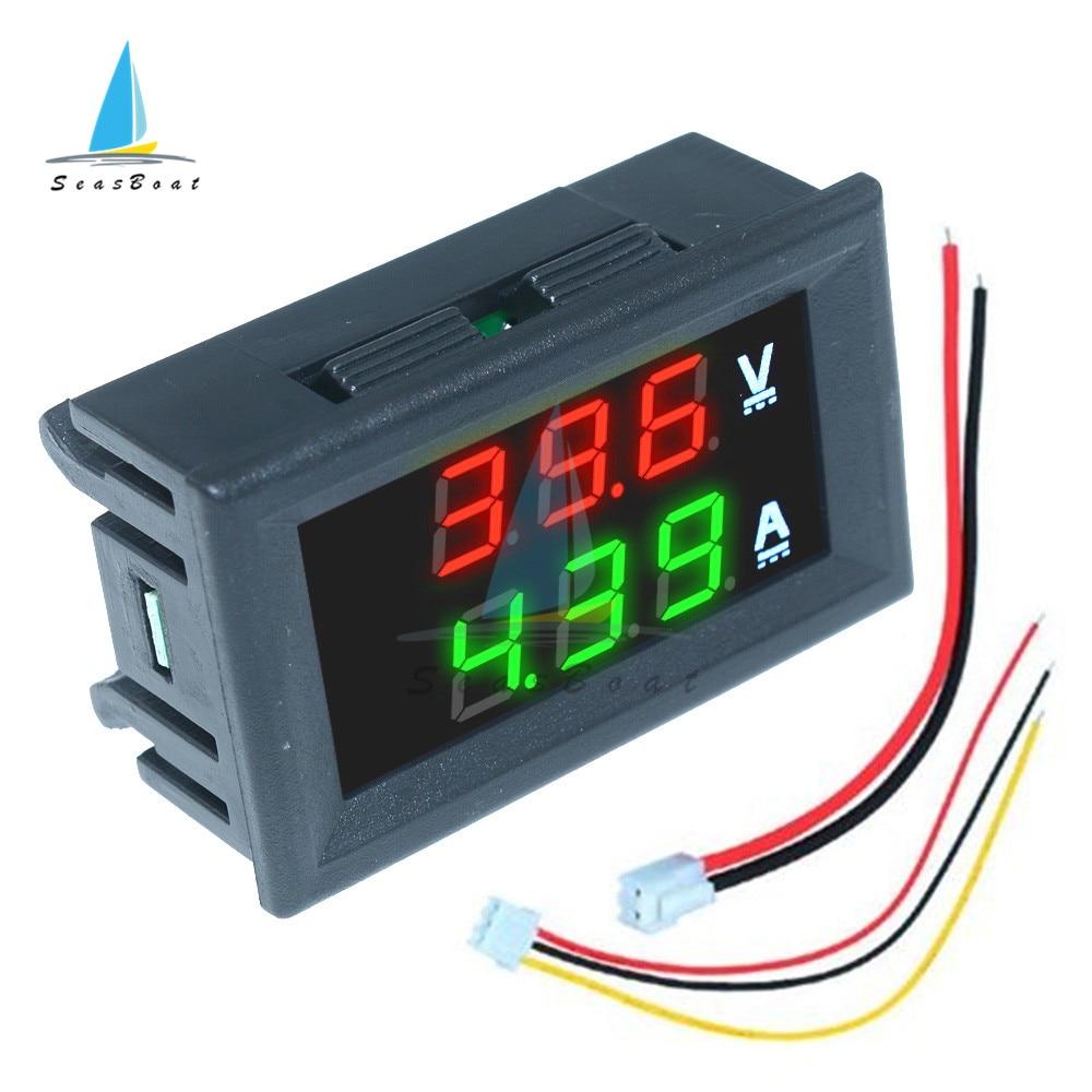 0.56'' 0-100V 10A 50A 100A LED Digital Voltmeter Ammeter Car Motocycle Voltage Current Meter Volt Detector Tester Monitor Panel