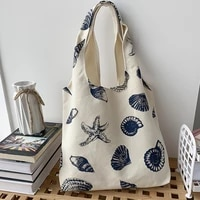 new european style canvas bag womens single shoulder japanese and korean literature and art department simple large capacity