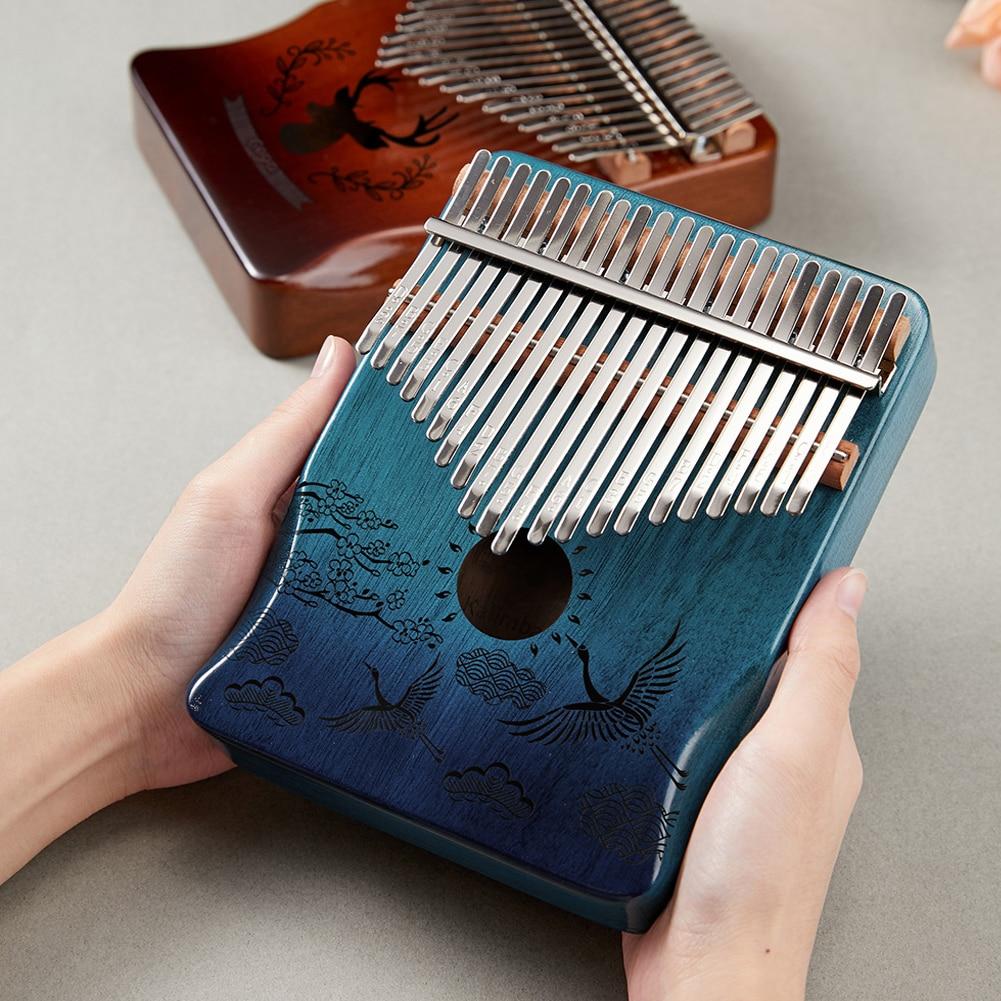 Kalimba 17 Key Mahogany Thumb Piano Mbira Musical Instrument Africa Finger Piano Instrumento Gift For Music Lovers Beginners enlarge