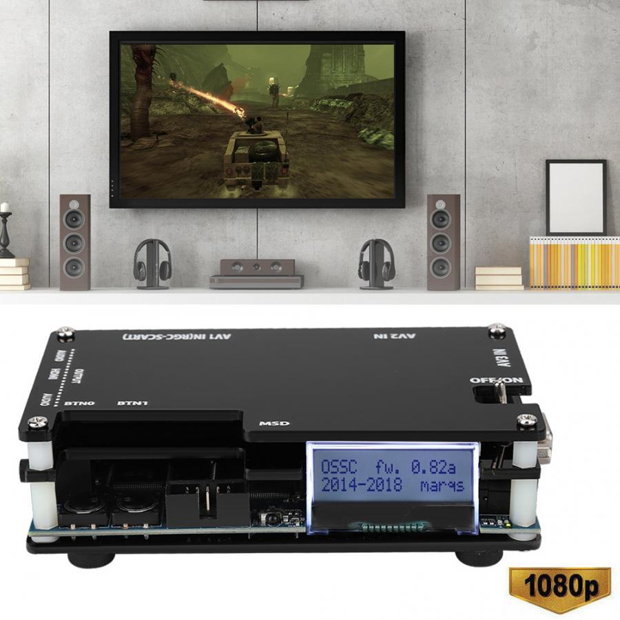 Convertidor de vídeo HD, HDMI a Scart, compatible con consolas de juego antiguo para sfc/md/ps/ss/ps2/xbox/wii, salida de señal HDMI, ossc, línea de escaneo