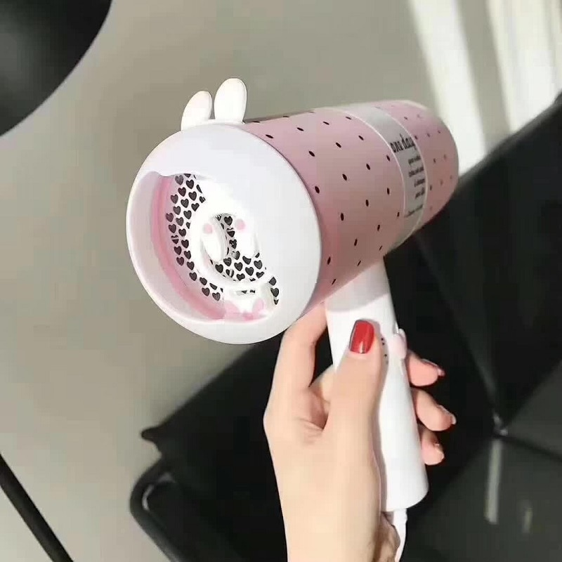 Hairdryer  Beautiful Design Flower Smell Blow Dryer For Hair Dry Pink Cute Hairdryer enlarge