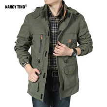 NANCY TINO New Hiking Jacket for Men Spring Young Casual Mid-length Outdoor Windbreaker Fishing Wind