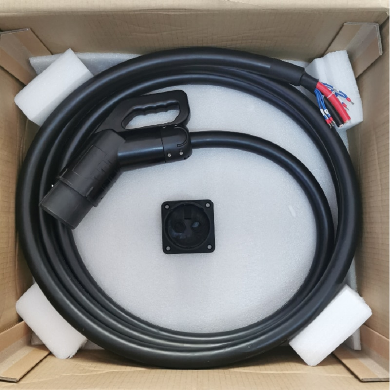 EV DC fast charging station 125A DC 1000V CHAdeMO plug with 5 meters cable connector enlarge