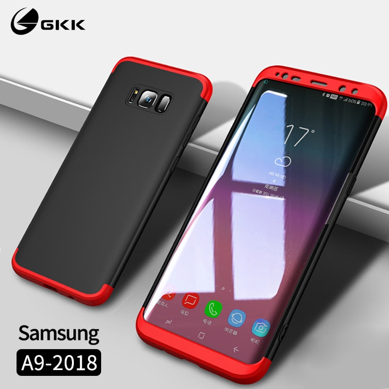 GKK чехол для Samsung A9 2018 чехол Полная защита 3 в 1 PC матовый чехол Samsung S10 S10e lite Plus A9s A9 Star Pro Чехол Coque