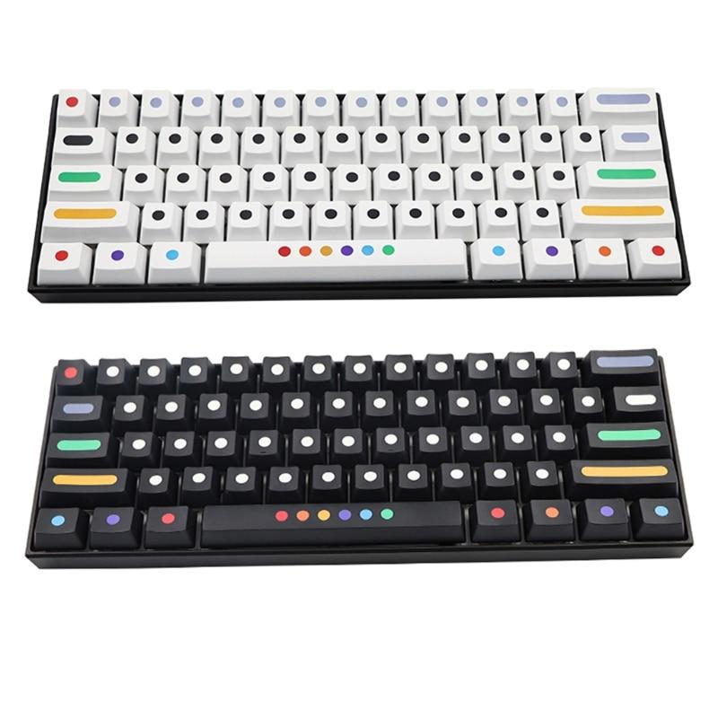 AXYB استبدال Keycap 71 مفاتيح PBT الحرارة التسامي كيكابس للوحة المفاتيح الميكانيكية