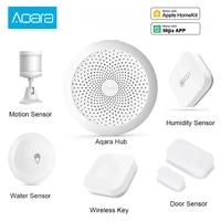 Aqara     kit pour maison intelligente  Hub Gateway  capteur de choc  capteur de corps  interrupteur sans fil  capteur deau pour Mijia Apple Homekit