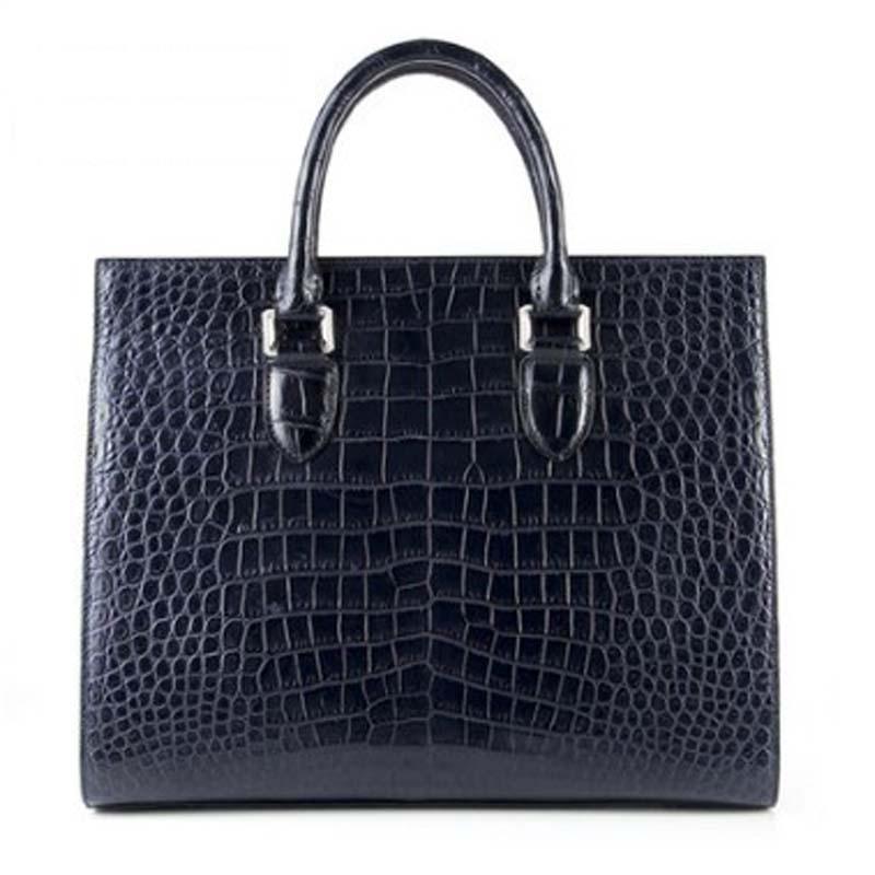 weitasi new Crocodile leather men's business briefcase and leisure handbag men handbag men crocodile bag