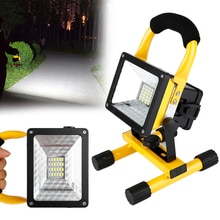 Akumulatorowa lampa led światło halogenowe Outdoor Camping wodoodporna konstrukcja Spotlight 18650 bateria emergency Light