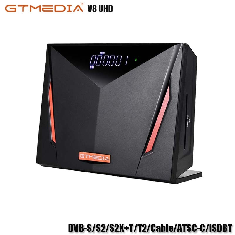 GTMEDIA V8 UHD Receptor Support DVB-S/S2/S2X+T/T2/Cable/ATSC-C/ISDBT Satellite TV Receiver Spain/Brazil/Russia TV BOX