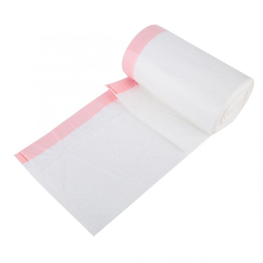 Bolsas de basura Ultra fuertes 40/45 Uds. Bolsas de basura gruesas blancas rojas con cordón para el hogar y la Oficina bolsas de basura