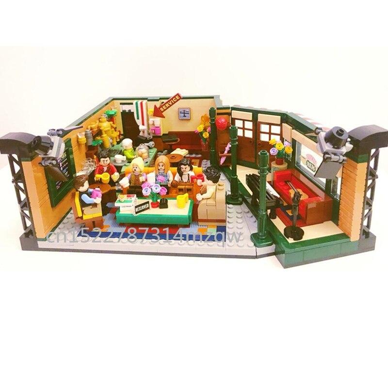 Nuevo clásico de la serie de televisión Americana Drama amigos Central Perk café con bloques de construcción en miniatura ladrillos lepines 21319 juguete para regalo chico