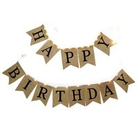 happy birthday bunting banner with silver wire led firefly lights battery operated