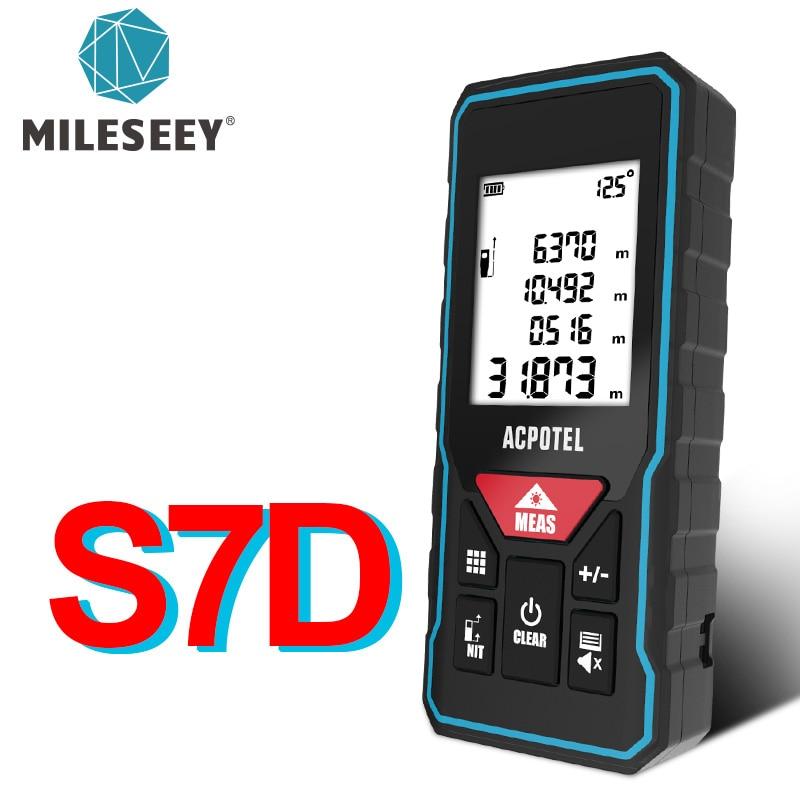 Mileseey telémetro láser X5 лазерная рулетка buscador láser de distancia láser Digital...