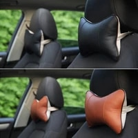 men fashion business car headrest pillow leather car seat support cushion seat back neck protector head pillows car accessories