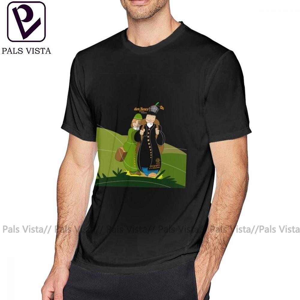 Bosco camiseta Don Bosco y madre Margherita camiseta con paisaje clásico gran Camiseta de manga corta gráfica divertida camiseta 100 algodón