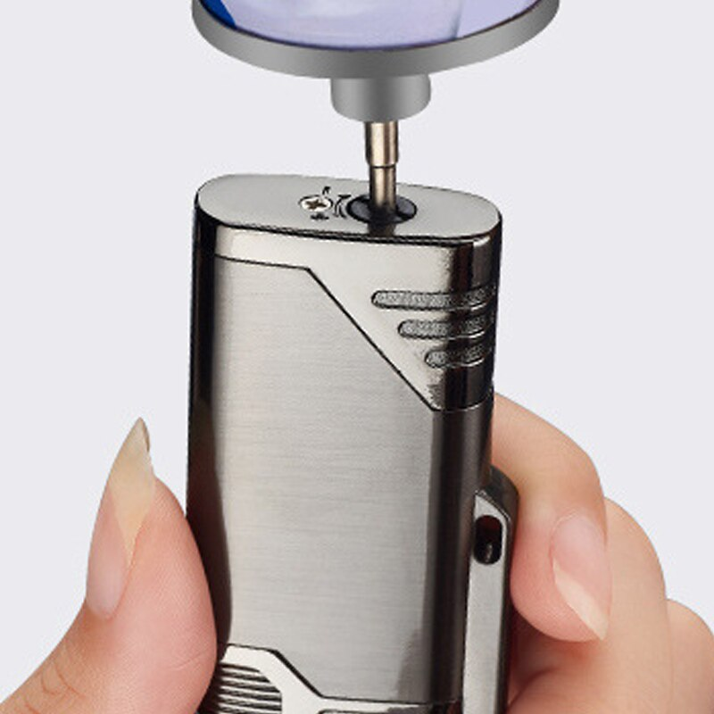 Double Flame Windproof Lighter CigarTurbojet Metal Butane Unusual Lighters Cigarettes Smoking Accessories Suit Gift For Man hqd enlarge