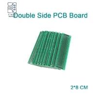 5pcs double sided prototype pcb breadboard 2x8 cm fr4 glass fiber 20x80 mm diy kit tinned universal expansion board module