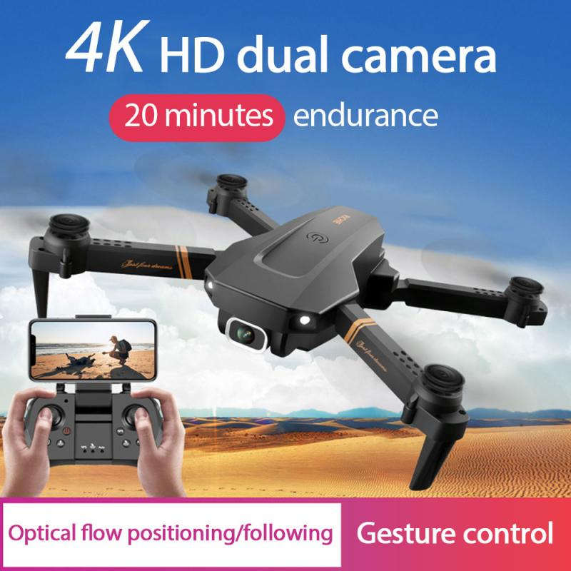 V4 Rc Drone 4k HD Wide Angle Camera 1080P WiFi Fpv Drone Dual Camera Quadcopter Real-time Transmissi