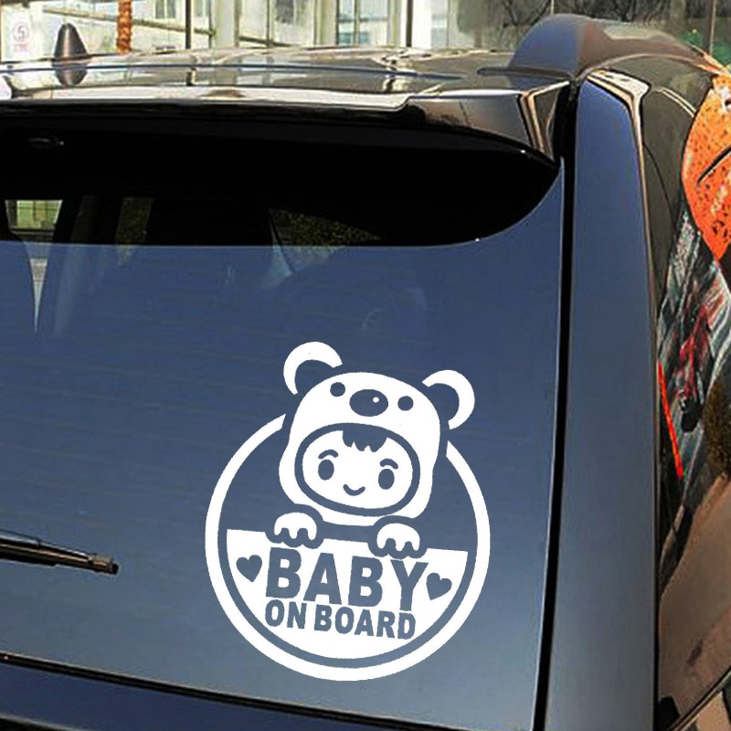 Reflective Car Stickers And Decals Baby On Board Funny Rear Windshield Bumper Window Trunk Cover Scratch Accessories PVC16*14cm  - buy with discount