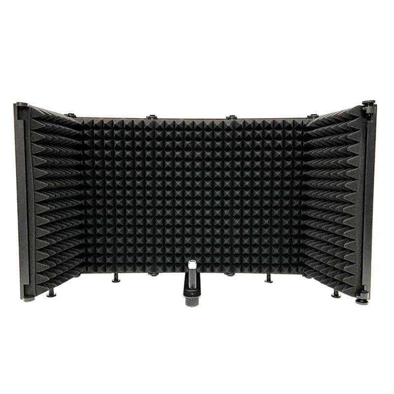 AQA ميكروفون ، غطاء عازل للصوت قابل للطي ، والحد من الضوضاء وشاشة Windproof ، ومناسبة للاستوديو تسجيل مباشر
