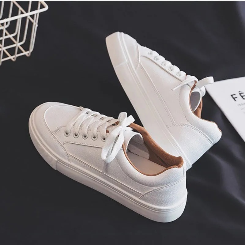 Retro wild white shoes female 2021 spring and autumn new student casual white shoes Korean street clapper shoes female little white shoes female spring 2020 new shoes students wild basic canvas shoes korean casual shoes daisy board shoes