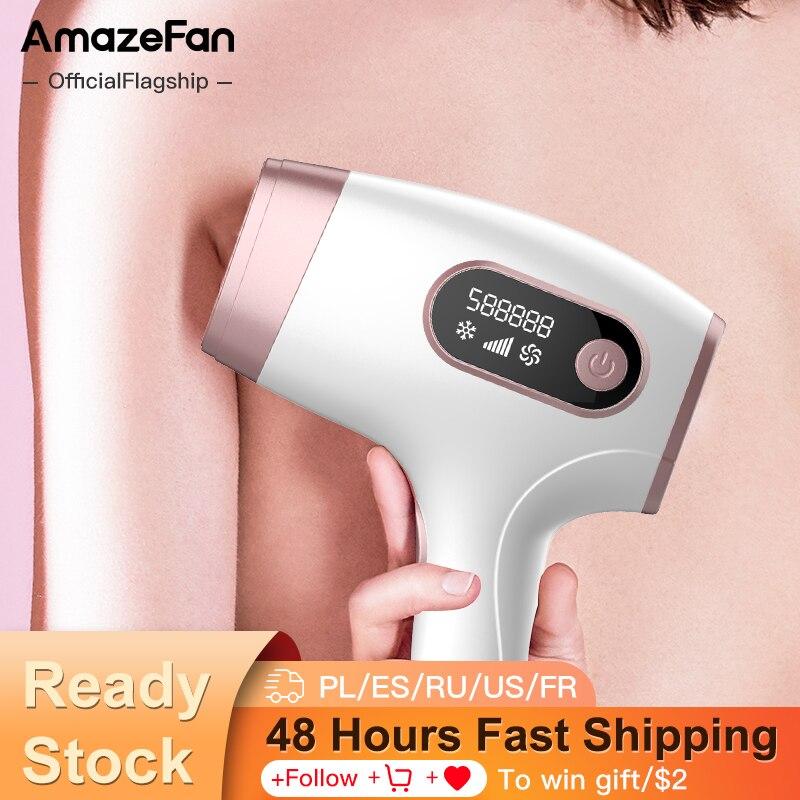 AmazeFan 990000 Flashes Photoepilator IPL Hair Removal Ice Laser Epilator Permanent Painless Home Epilator