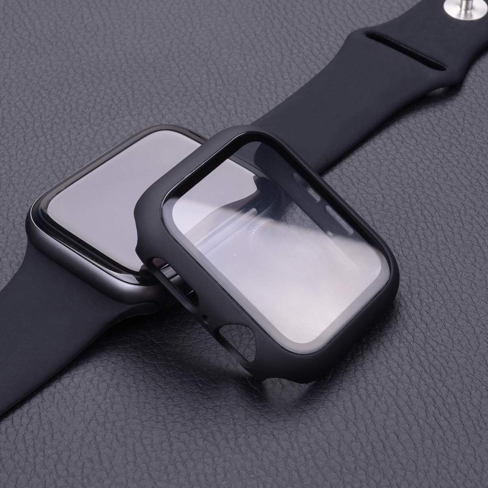 Cover for apple watch case 44mm 40mm 38mm 42mm iwatch case screen protector bumper Tempered Glass ap