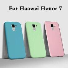 """Fundas Case For Huawei honor 7 Liquid soft Silicone Phone Case For Huawei Honor 7 PLK-AL10 PLK-L01 Back Cover armor Coque 5.2"""""""