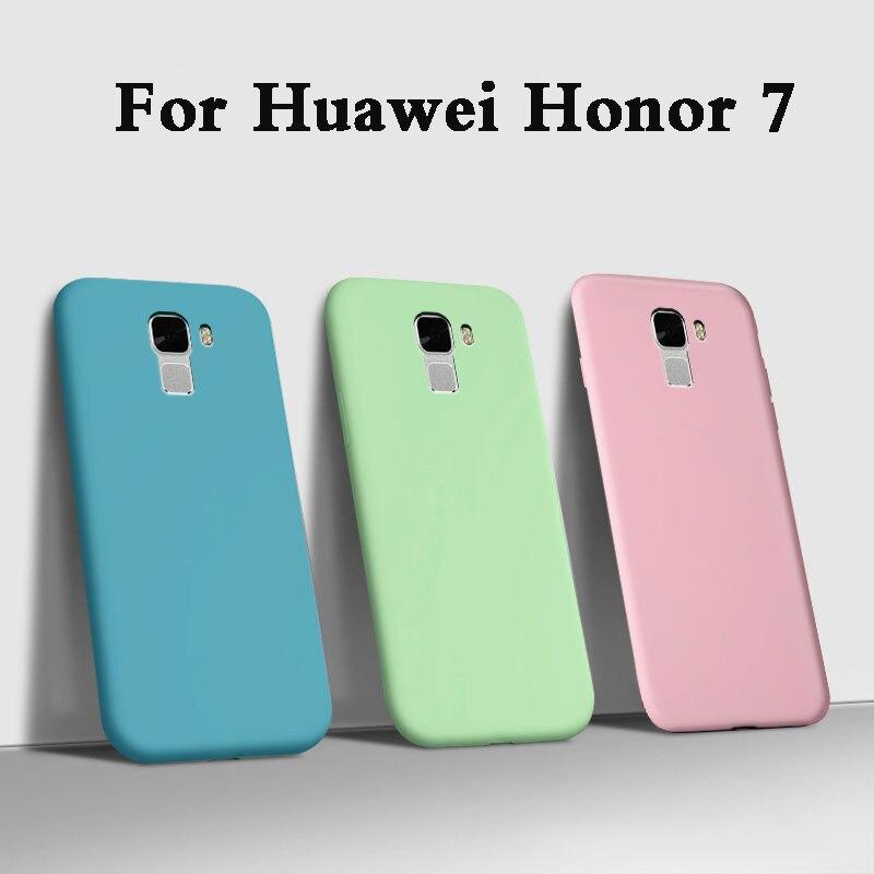 Fundas étui pour huawei honor 7 étui pour huawei de téléphone en Silicone souple liquide honor 7 PLK-AL10 PLK-L01 Coque arrière armure 5.2