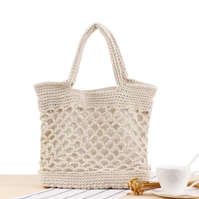 Lovevook frauen handtaschen woven taschen sommer strand taschen große tote schulter tasche für reise/shopping baumwolle seil Böhmen 2020 hohl