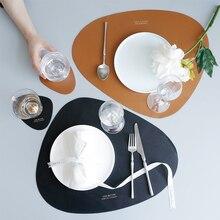 Tapis de table en cuir étanche   Coussin isolant à lhuile et à la chaleur, coussin créatif pour bol, coussin pour tasses, coussin pour assiette de dîner