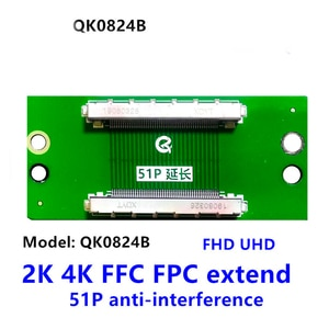 51PIN TO 51PIN FFC  FPC cable  connector 2k 4k QK0824B lvds adapter