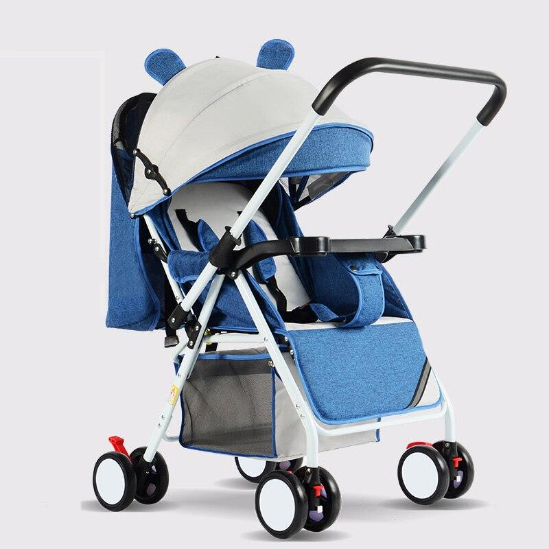 عربة أطفال محمولة قابلة للطي ، عربة أطفال خفيفة الوزن للغاية ومريحة للجلوس والاستلقاء ، عربة أطفال صغيرة بأربع عجلات