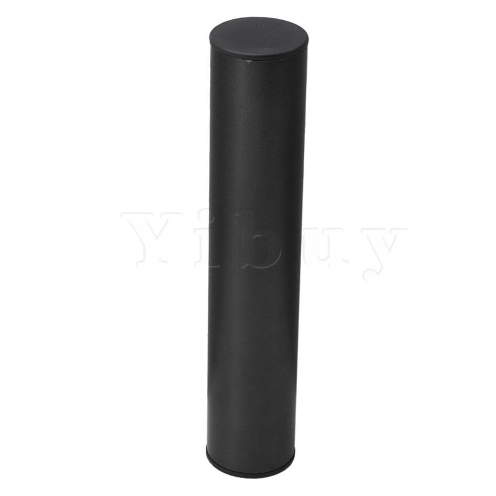 Yibuy negro Acero inoxidable Orff percusión agitador arena tubo 250MM herramienta Musical