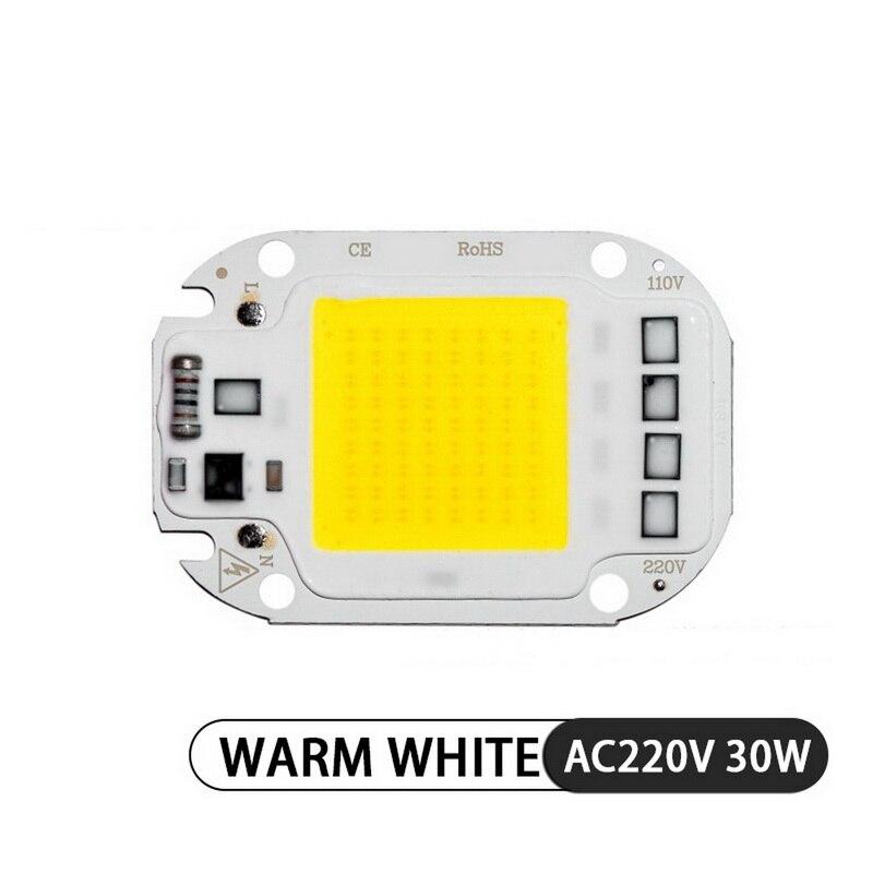 AC220V AC110V 20W 30W 50W positivo blanco cálido cob integrado fuente de luz lineal Motor de luz integrado chip crecimiento de planta