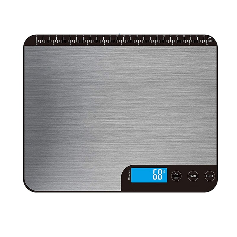 ميزان المطبخ 33Lb مقياس المطبخ الرقمي الوزن غرام أوقية للطبخ الخبز متعددة الوظائف ميزان المطبخ ، 1 جرام التخرج دقيقة