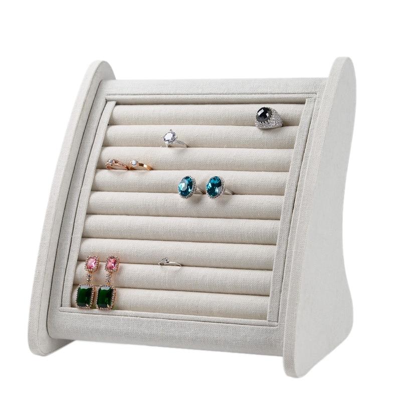 Ring Jewelry Display Rack Storage Box Jewelry Rack Creative Curved Multi-Card Jewelry Stand Jewelry Display Props