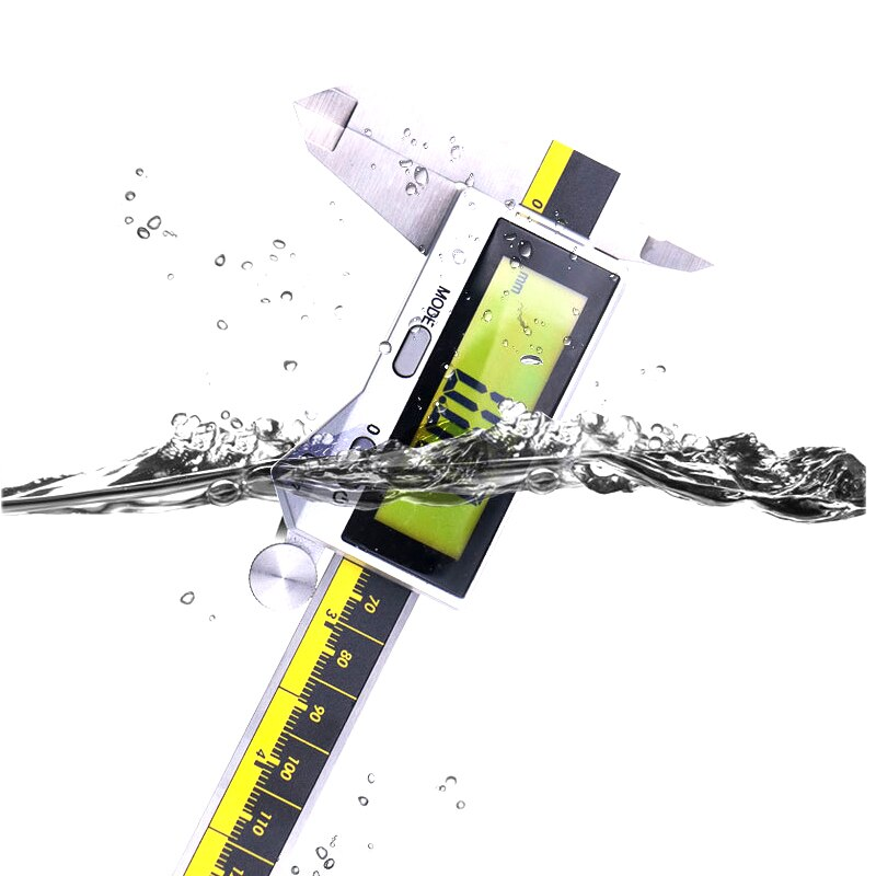 High Precision Digital Display Vernier Caliper 0~200mm IP54/IP67 Waterproof LCD Touch Screen/Key Press Industrial Vernier Calipe