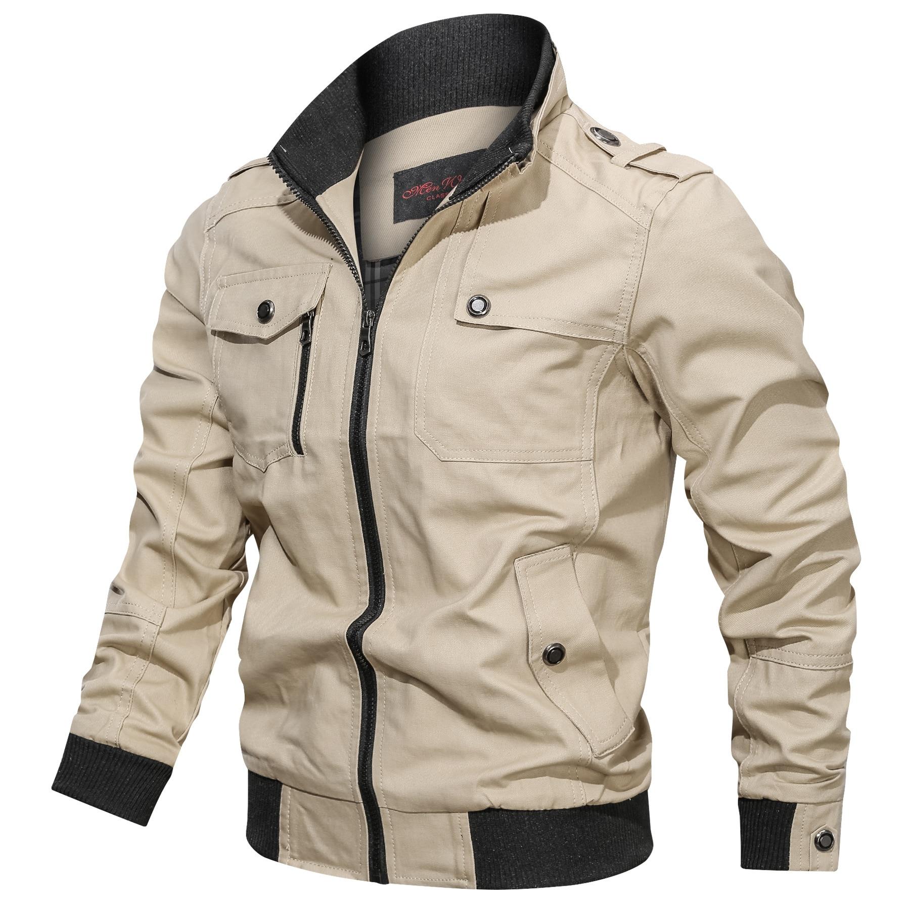 Мужская куртка и пальто NEGIZBER, однотонная приталенная куртка в стиле сафари, Повседневная белая куртка с воротником-стойкой, весна-осень 2019