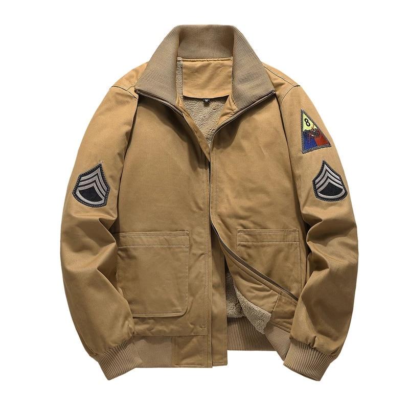 Куртка-бомбер мужская зимняя в стиле милитари