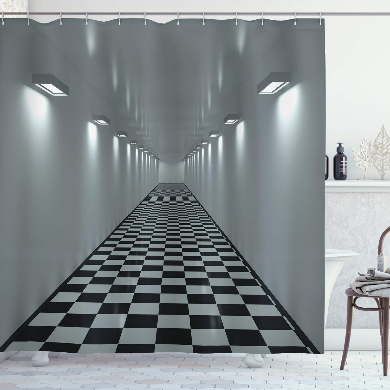 Colección de decoración de apartamento, luces largas de techo de pasillo, baldosas de diseño minimalista, arte para interiores de oficina, tela de poliéster