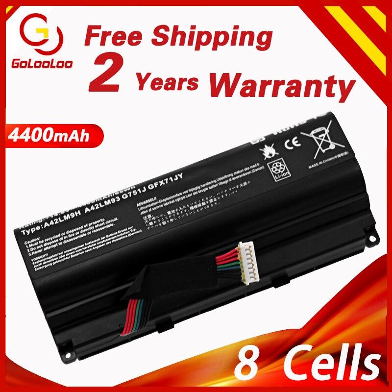 Gololoo 14,8 V 4400 mAh A42N1403 Аккумулятор для ноутбука ASUS ROG G751 G751JY G751JM G751JT GFX71 GFX71JY GFX71JT A42LM9H A42LM93