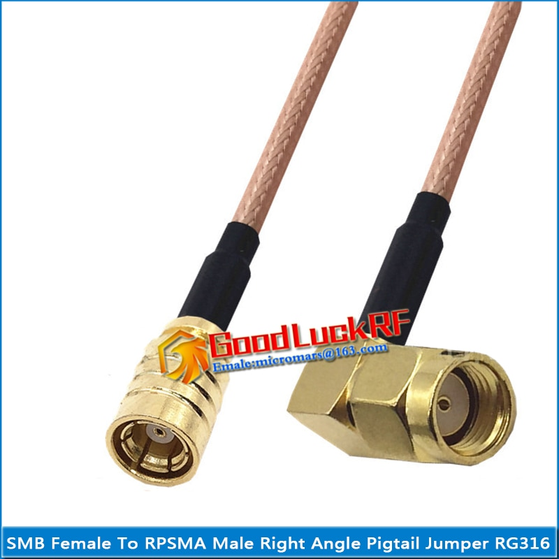 1x pcs high quality sma male to rp sma rpsma rp sma male plug coaxial pigtail jumper rg316 cable gold low loss sma to rpsma 1X Pcs High-quality SMB Female to RPSMA RP-SMA RP SMA Male 90 Degree Right Angle Pigtail Jumper RG316 Cable Coaxial SMA to SMB