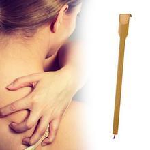 1 szt. Trwała drewniana bambusowa skrobaczka do pleców wysuwana tylna swędzenie własny masażer rolka do masażu ciała Backscratcher