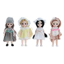 Moveable 13 Joints 16cm Baby Doll Dress Up Toy Girls Gift DIY Accessory