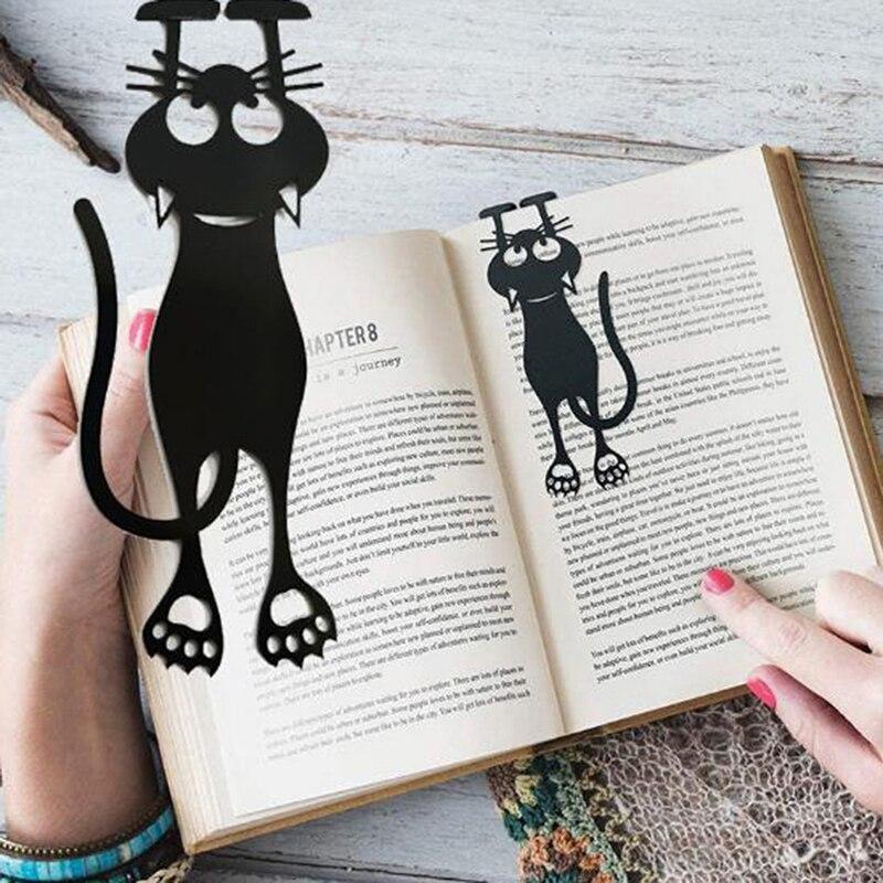 1 шт., симпатичная металлическая Закладка в виде черной кошки